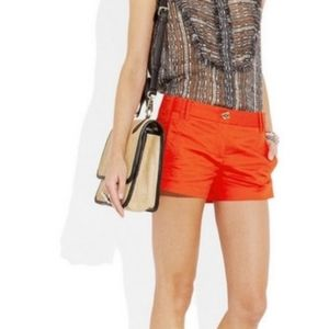 Tory Burch Shearer shorts habanero pepper size 4